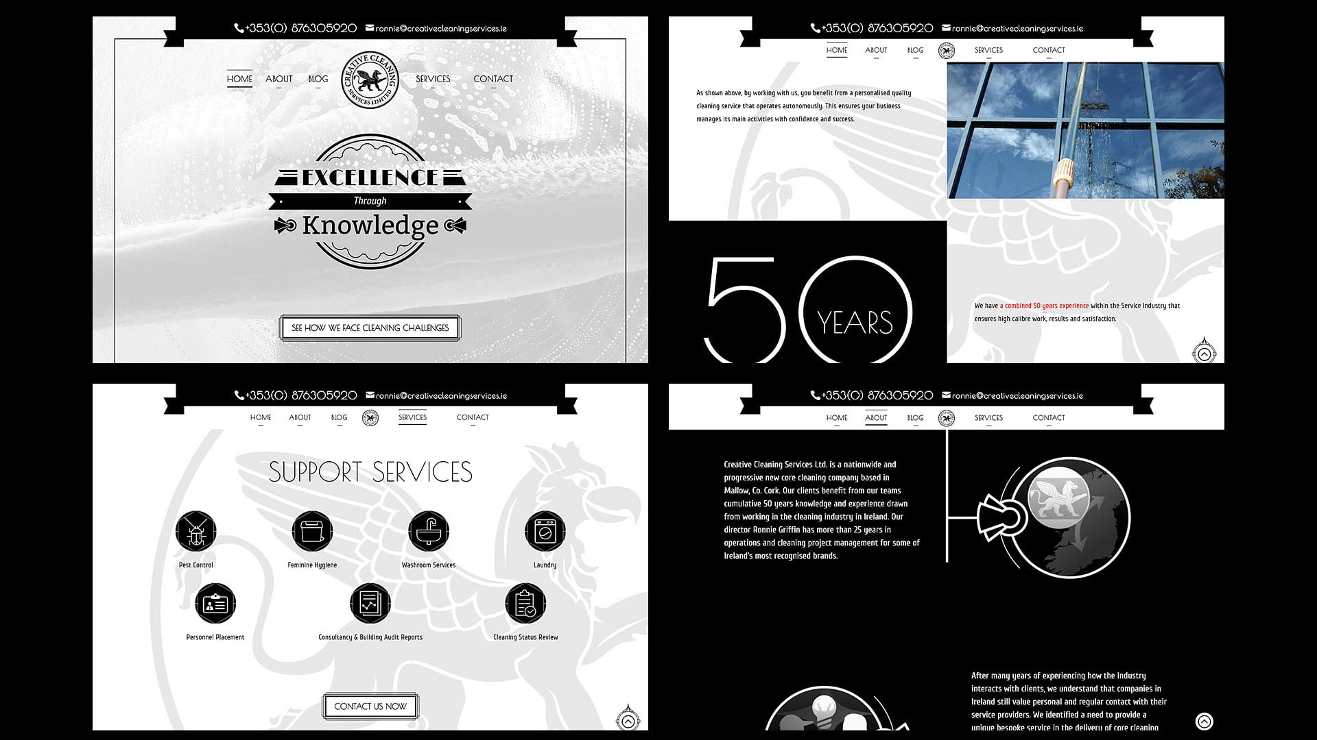 Creative Cleaning Services - Website pages