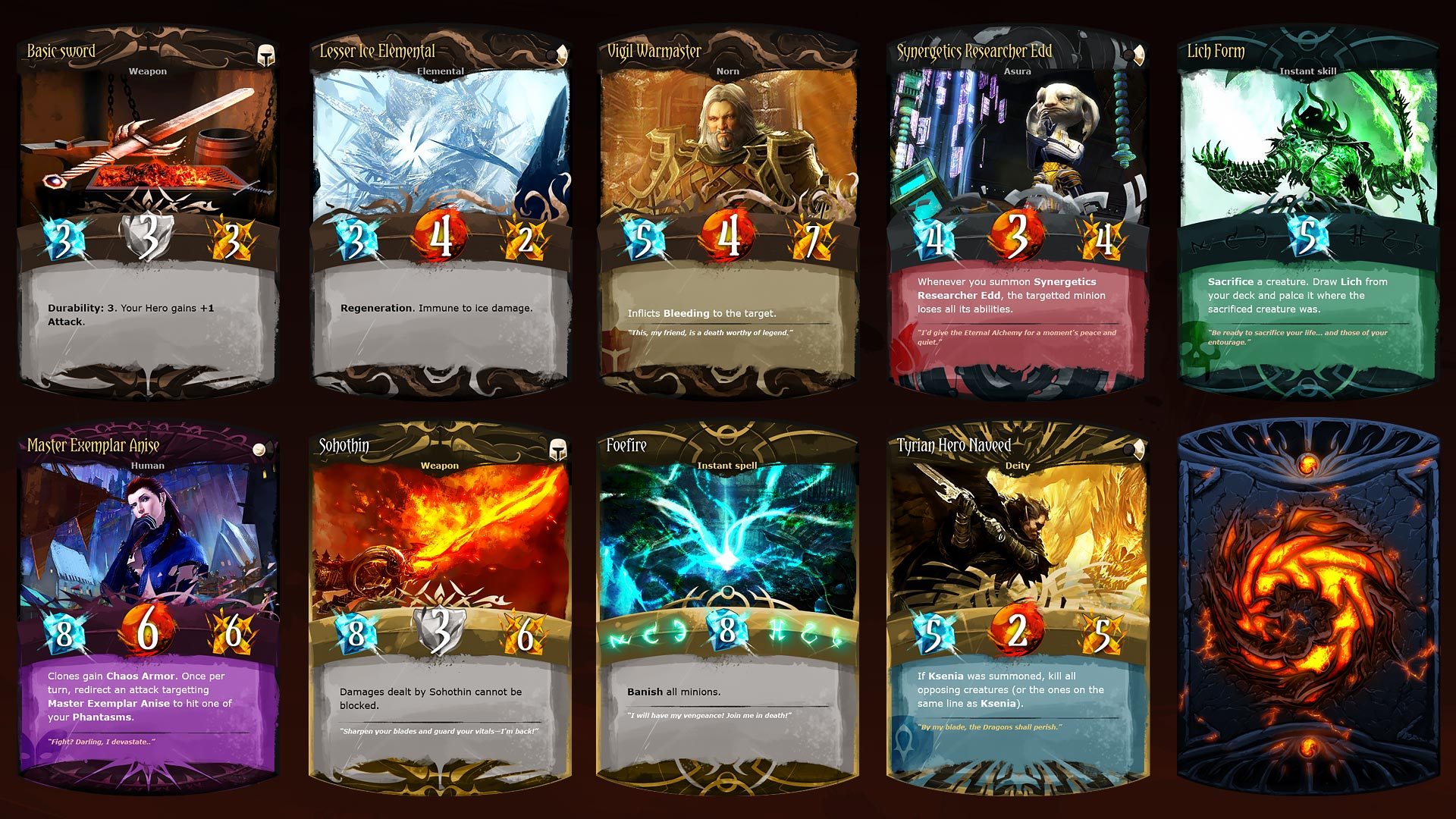 Guild Wars 2 Community and Partnership - Unofficial collectible cards