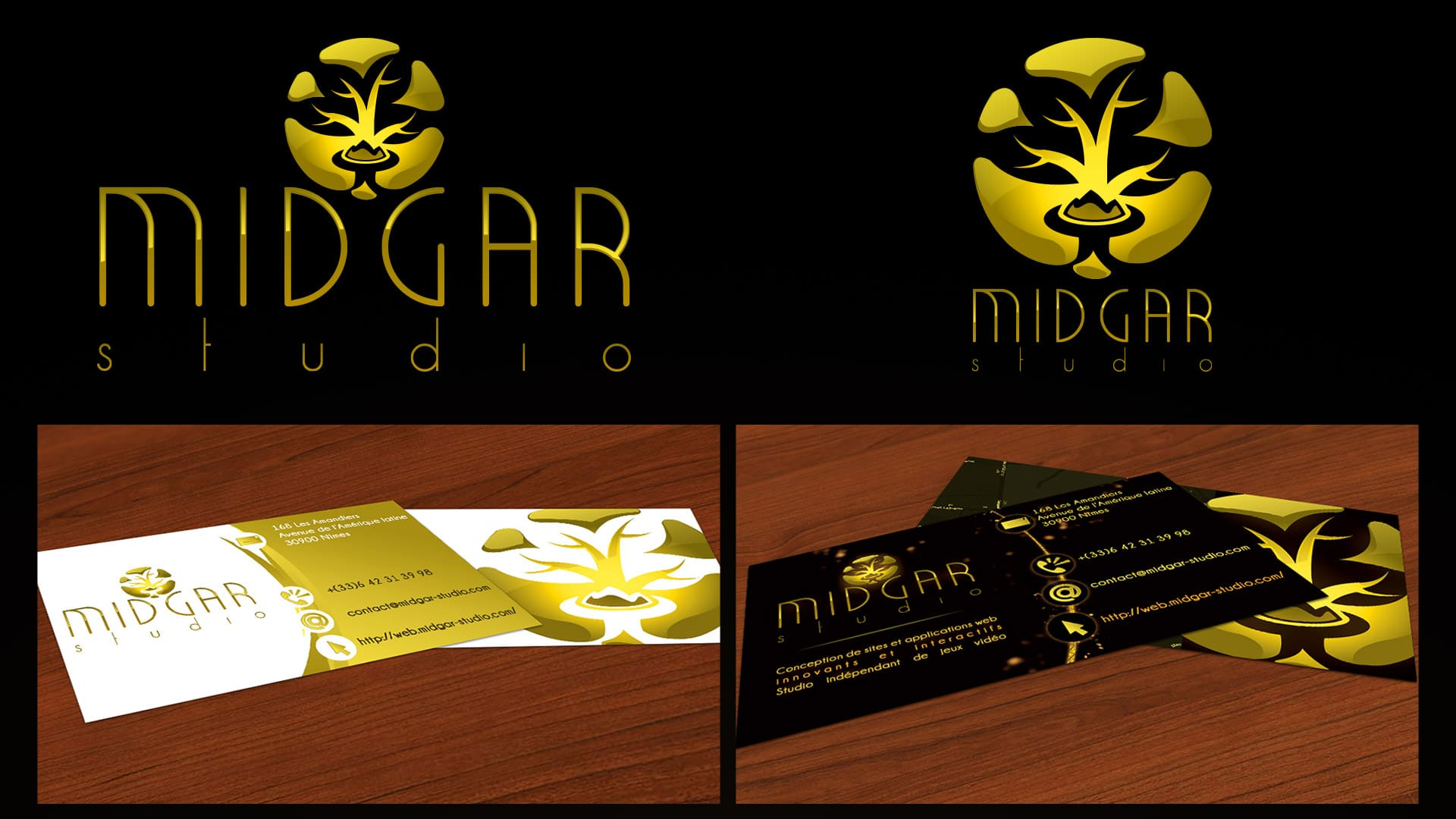 Midgar Studio Corporate Identity - Final logo and business card