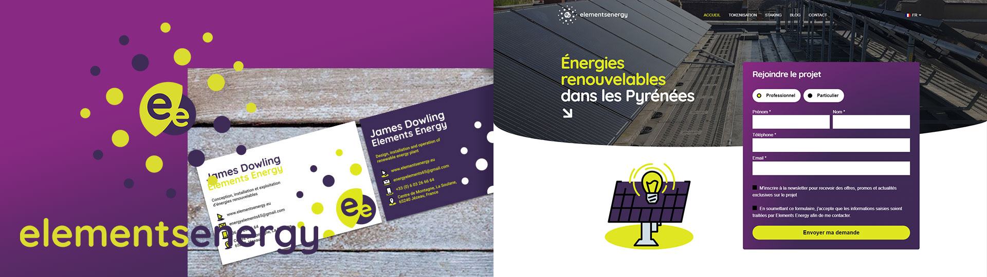 Elements Energy Corporate Identity and Web Design