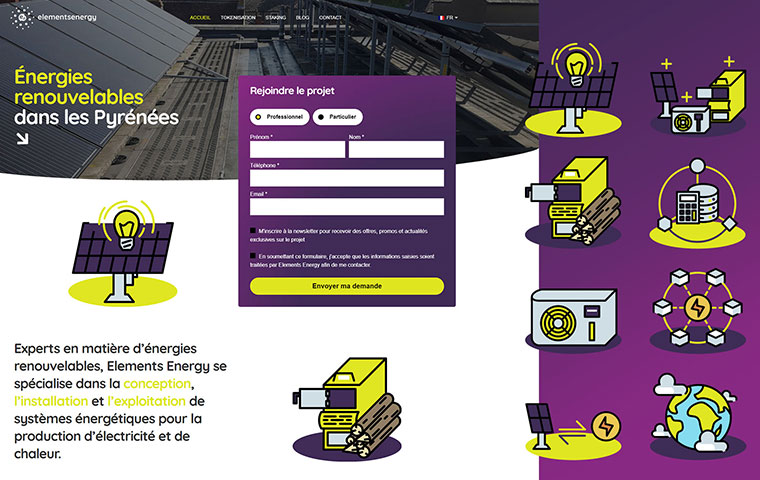 Elements Energy Corporate Identity and Web Design thumbnail